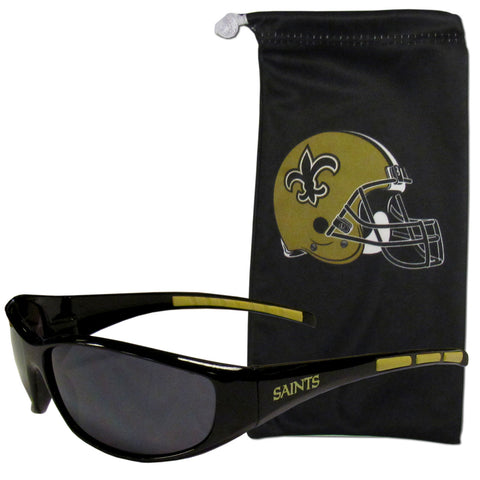 New Orleans Saints Sunglass and Bag Set