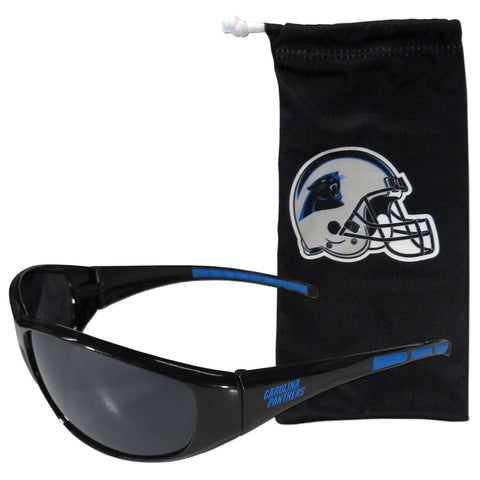 Carolina Panthers Sunglass and Bag Set