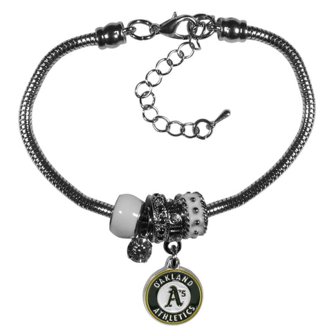 Oakland Athletics Euro Bead Bracelet