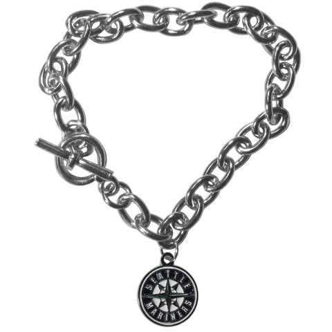 Seattle Mariners Charm Chain Bracelet