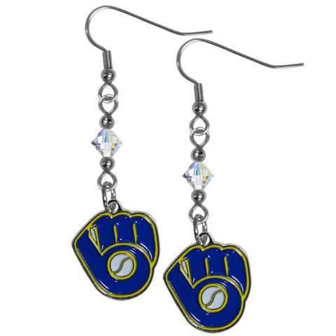 Milwaukee Brewers Crystal Dangle Earrings