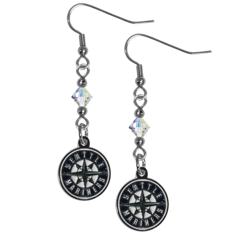 Seattle Mariners Crystal Dangle Earrings