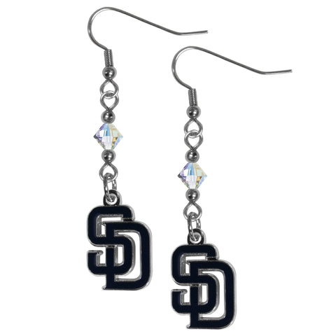 San Diego Padres Crystal Dangle Earrings