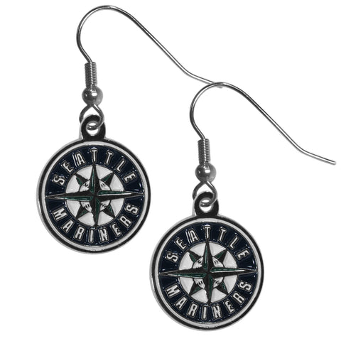 Seattle Mariners Chrome Dangle Earrings