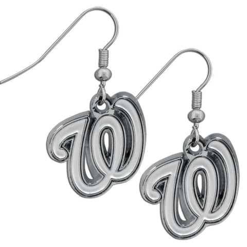 Washington Nationals Chrome Dangle Earrings