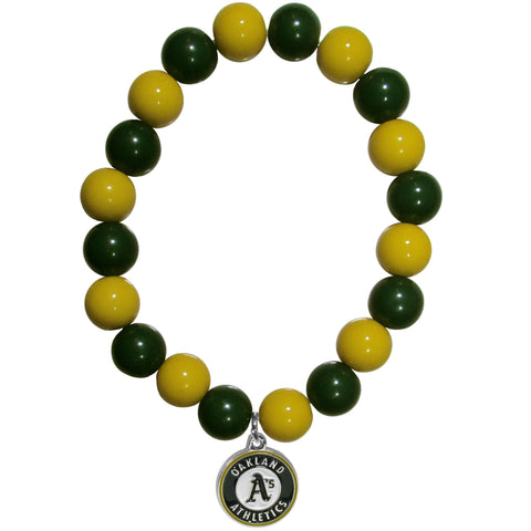Oakland Athletics Fan Bead Bracelet