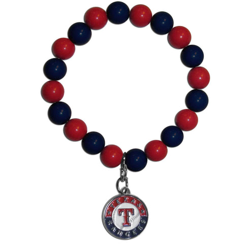 Texas Rangers Fan Bead Bracelet