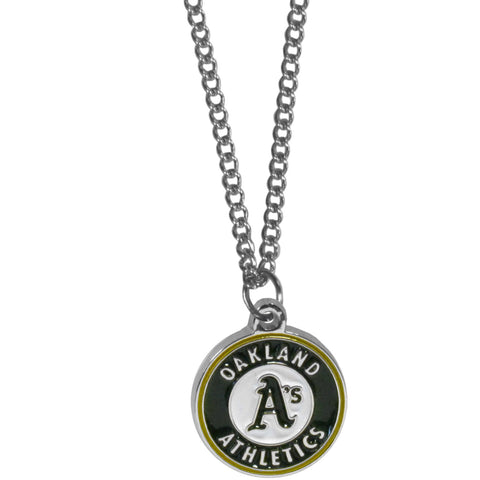 Oakland Athletics Chain Necklace with Small Charm