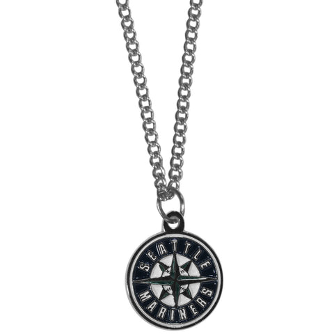Seattle Mariners Chain Necklace with Small Charm
