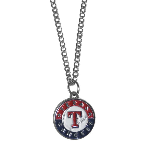 Texas Rangers Chain Necklace with Small Charm