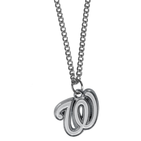 Washington Nationals Chain Necklace with Small Charm