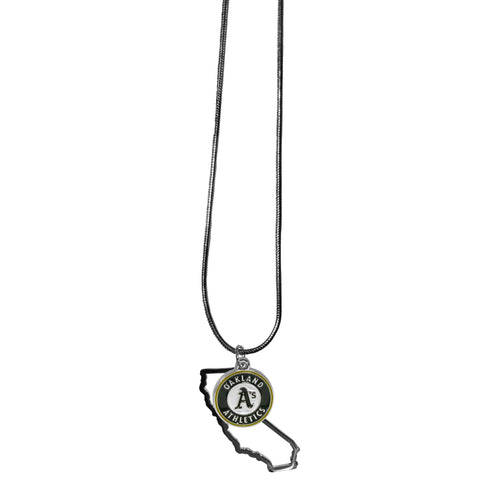 Oakland Athletics State Charm Necklace