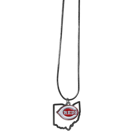 Cincinnati Reds State Charm Necklace