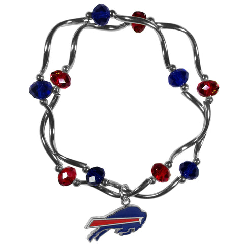 Buffalo Bills Crystal Bead Bracelet