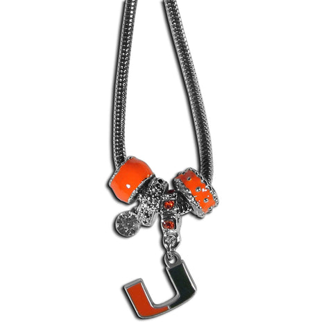 Miami Hurricanes Euro Bead Necklace
