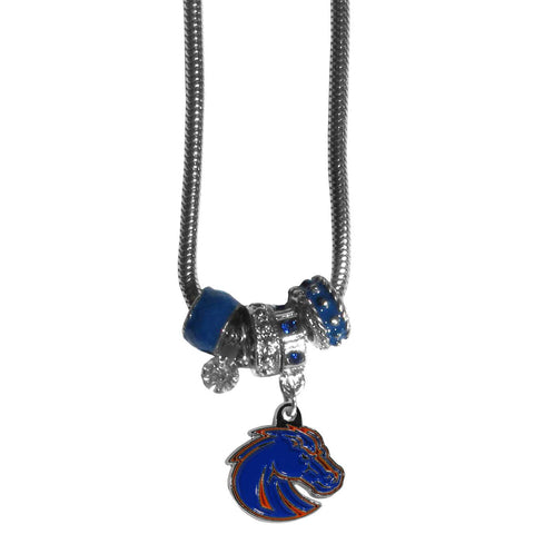 Boise St. Broncos Euro Bead Necklace