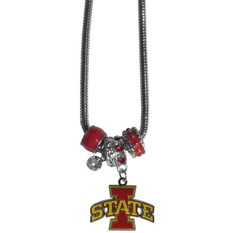 Iowa St. Cyclones Euro Bead Necklace