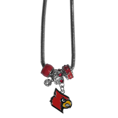 Louisville Cardinals Euro Bead Necklace