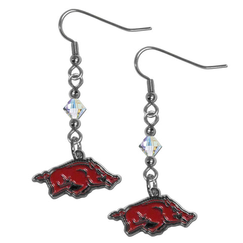 Arkansas Razorbacks Crystal Dangle Earrings