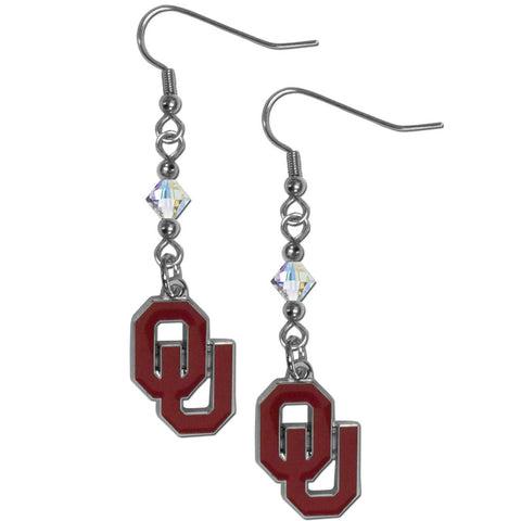 Oklahoma Sooners Crystal Dangle Earrings