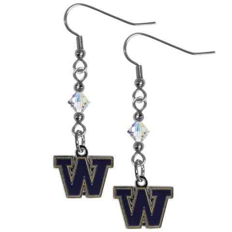 Washington Huskies Crystal Dangle Earrings