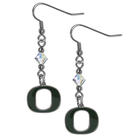Oregon Ducks Crystal Dangle Earrings