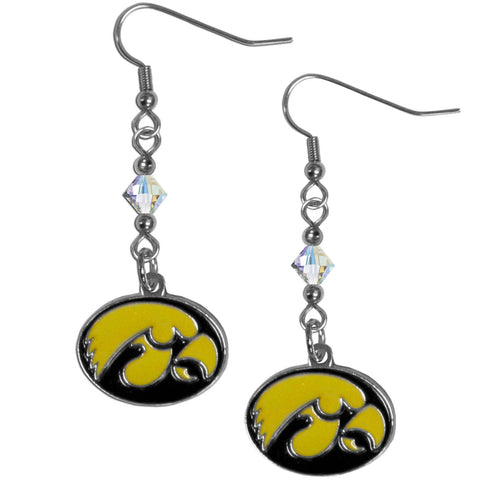 Iowa Hawkeyes Crystal Dangle Earrings