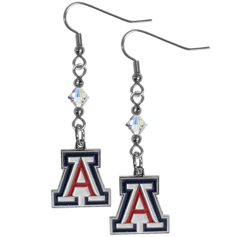 Arizona Wildcats Crystal Dangle Earrings