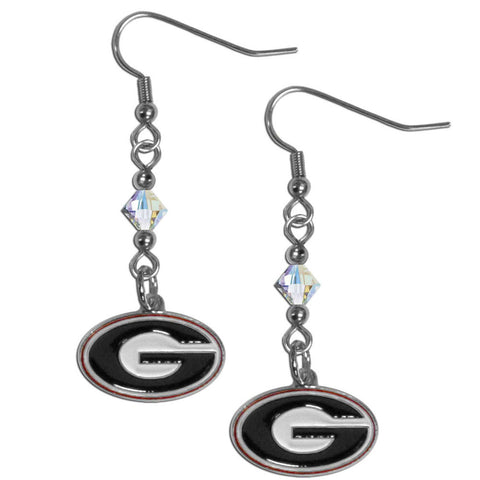 Georgia Bulldogs Crystal Dangle Earrings