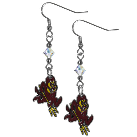 Arizona St. Sun Devils Crystal Dangle Earrings