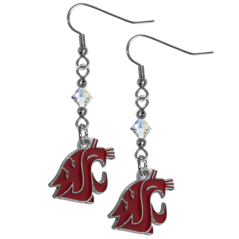 Washington St. Cougars Crystal Dangle Earrings