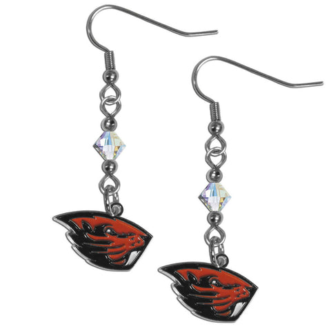Oregon St. Beavers Crystal Dangle Earrings