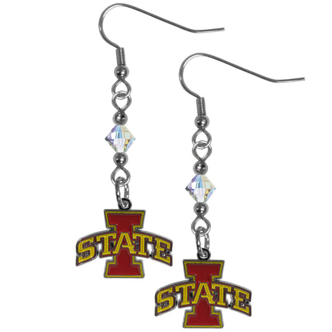 Iowa St. Cyclones Crystal Dangle Earrings
