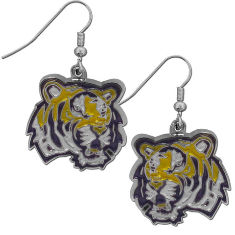 LSU Tigers Chrome Dangle Earrings