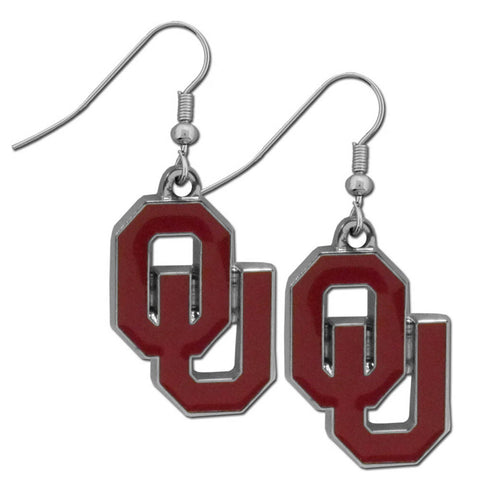 Oklahoma Sooners Chrome Dangle Earrings