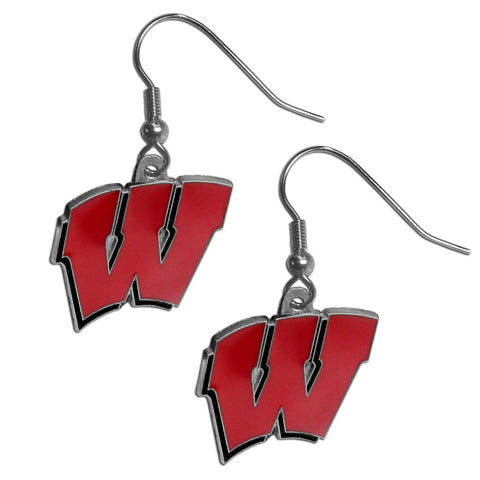 Wisconsin Badgers Dangle Earrings