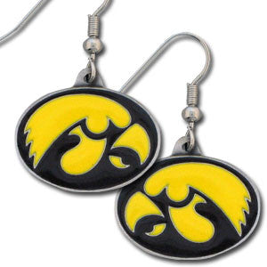Iowa Hawkeyes Dangle Earrings