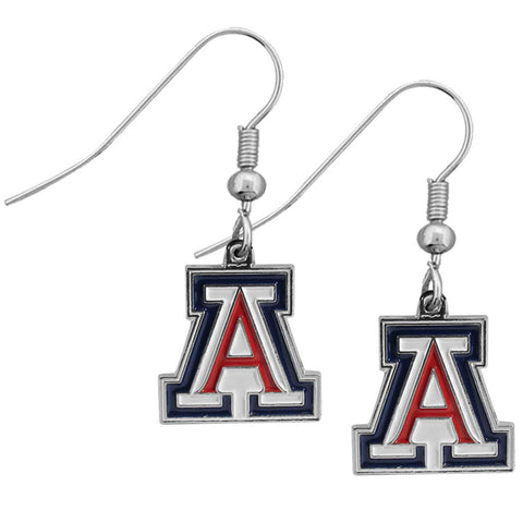 Arizona Wildcats Chrome Dangle Earrings