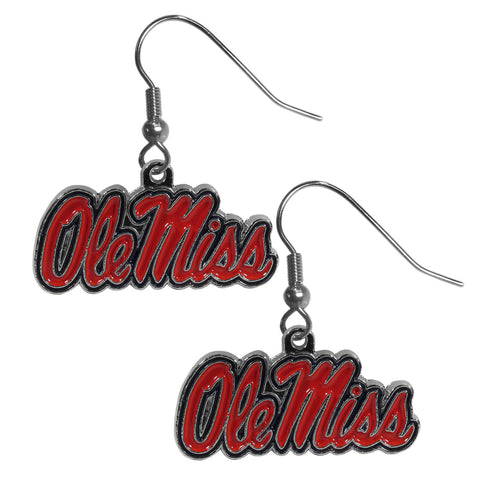Mississippi Rebels Chrome Dangle Earrings