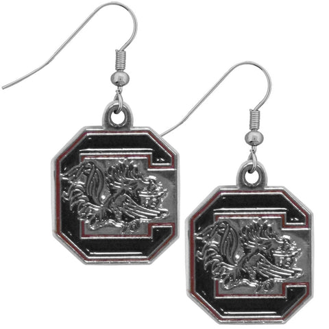 S. Carolina Gamecocks Chrome Dangle Earrings