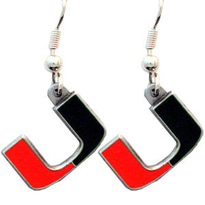 Miami Hurricanes Dangle Earrings