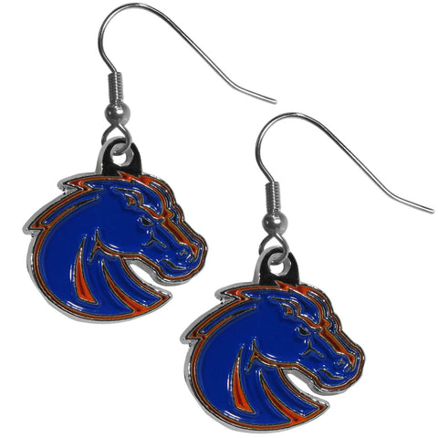 Boise St. Broncos Chrome Dangle Earrings