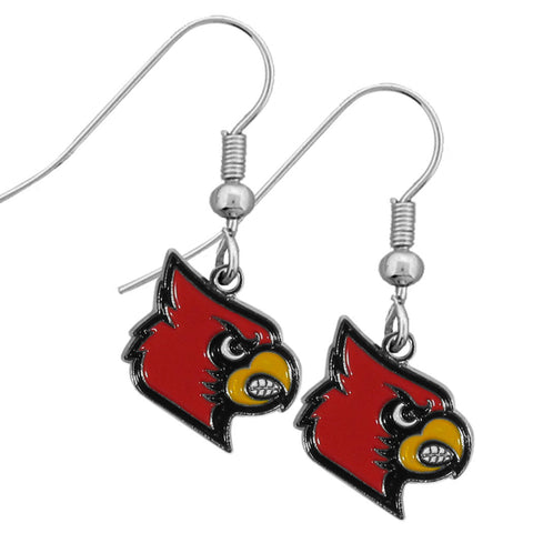 Louisville Cardinals Chrome Dangle Earrings