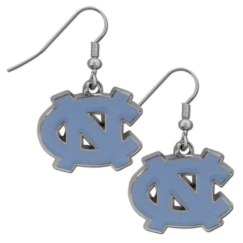N. Carolina Tar Heels Chrome Dangle Earrings