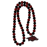 Arkansas Razorbacks Fan Bead Necklace