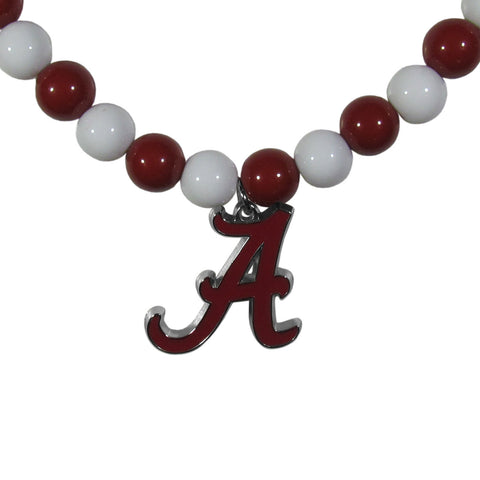 Alabama Crimson Tide Fan Bead Necklace