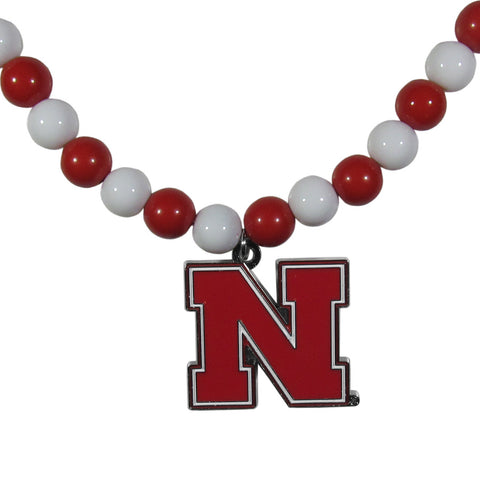 Nebraska Cornhuskers Fan Bead Necklace