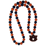 Auburn Tigers Fan Bead Necklace