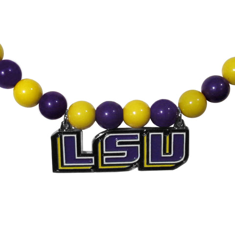 LSU Tigers Fan Bead Necklace
