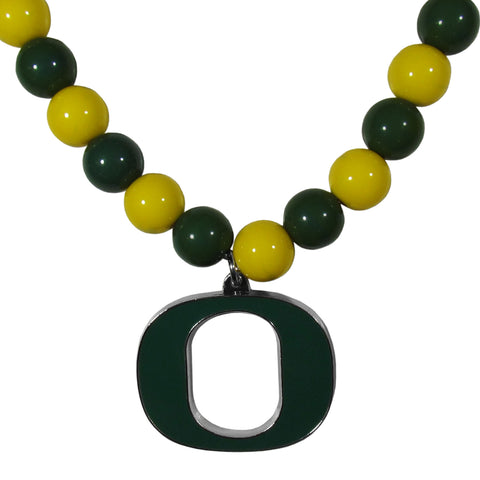 Oregon Ducks Fan Bead Necklace